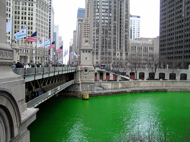 Chicago river green - St Pattys Day image 2