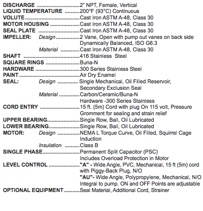 barnes se ht series high temperature pumps specs