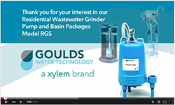 Goulds Grinder Pump Video