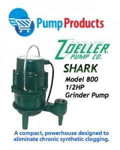 Shark model 800 grinder pump - pump products